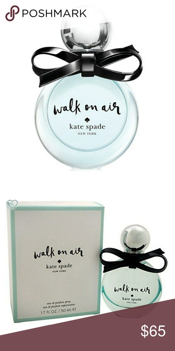 BNIB Kate Spade Walking on Air Perfume Sweet layers of lily of the valley, magnolia, and crinum lily pair to smell like fresh, spring air. This is a lovely, light scent that's perfect for day time. This is an unopened, plastic wrapped, 1.7 oz bottle 😊 kate spade Other