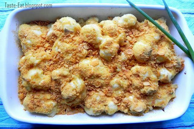 Taste Eat: Kalafior zapiekany w mozzarelli