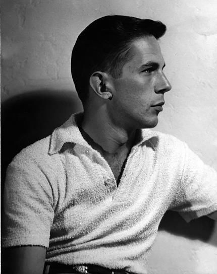 LEONARD NIMOY ACTOR YOUNG IN WHITE CASUAL TOP    8X10 PHOTO 331