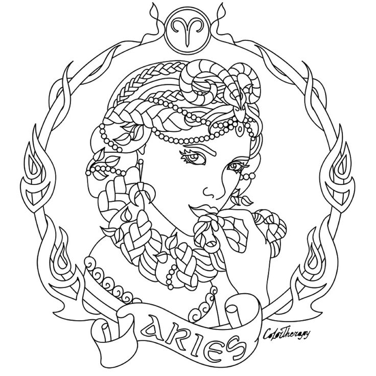astrological signs coloring pages - photo#9