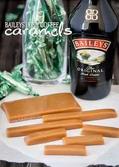 The very idea of this makes my mouth water.  Bailey's Irish coffee caramels - bake.love.give.