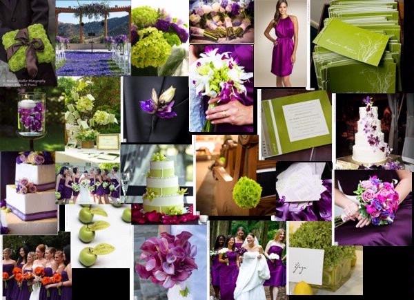 Olive Green And Eggplant Purple Wedding 3