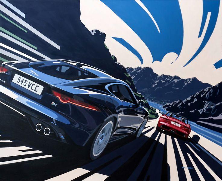 gashetka:  2014   Jaguar F-Type   Art by Tim Layzell   Source