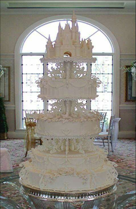 Disney themed princess wedding cakes ornate elaborate unusual