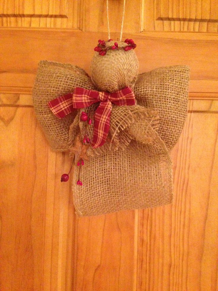 Burlap Angels Primitive See more at http://blog.blackboxs.ru/category/christmas/                                                                                                                                                      More