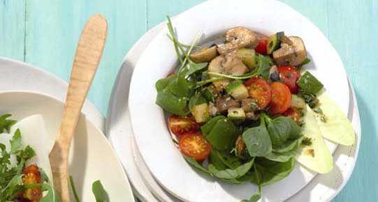 Gemengde salade met pestogroenten | Diabetes Fonds