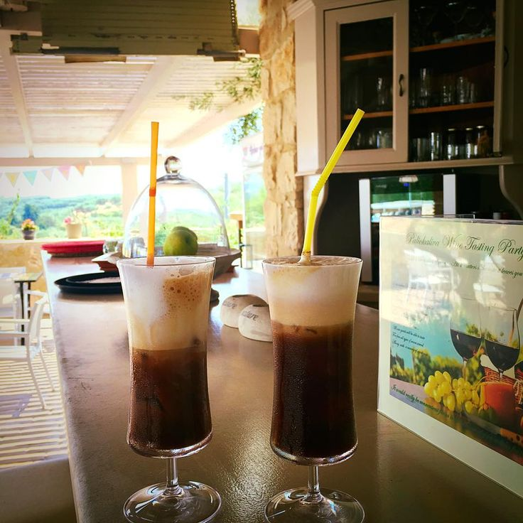 Enjoy your morning #coffee, like Greeks! #IceCoffee #PaliokalivaVillage #Zante Photo credits: Vivian Fiorentinos