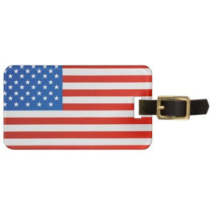 United states national flag luggage tag - #customize create your own personalize diy