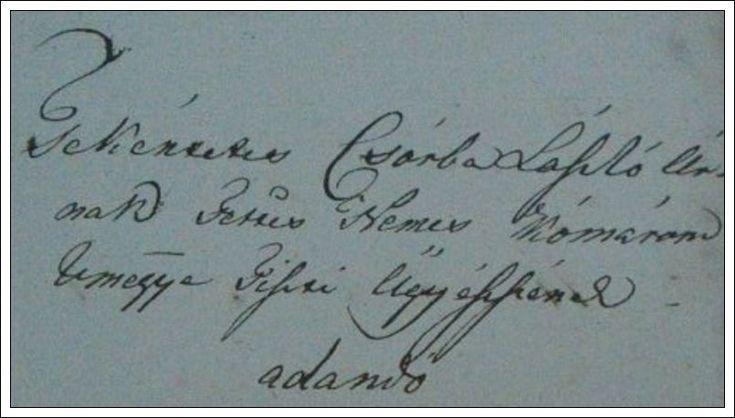 Prison Locks Inventory Old Manuscript -Tek.Csorba László úr- Komárom vm. tiszti ügyészének - 1838