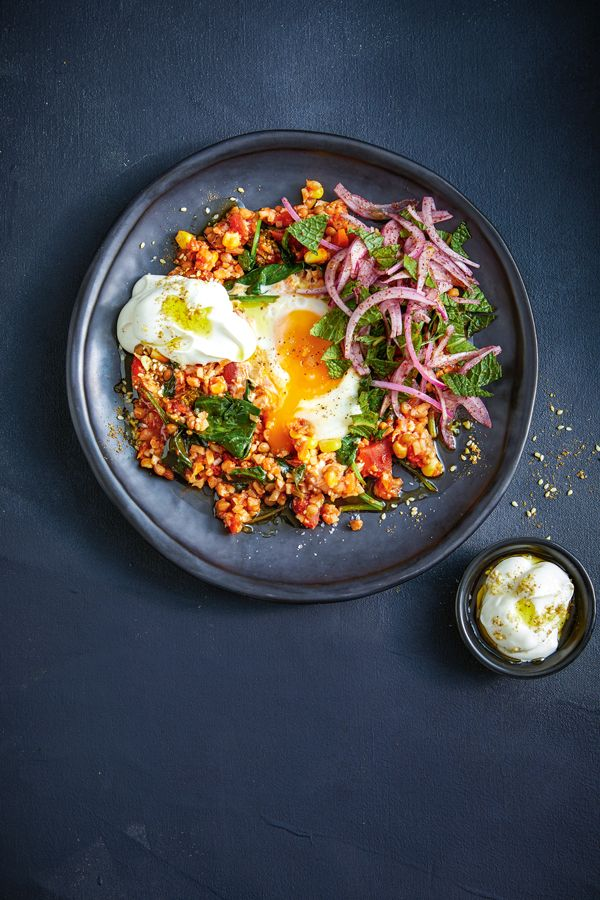 Eggs With Lentils And Spiced Mint Recipe In 2020 Mint Recipes Recipes Vegetarian Recipes