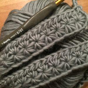 Häkelanleitung Sternmuster #starstitch crochet #sternmuster häkeln