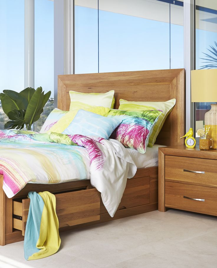 The Capri | With solid timber and lots of storage at a great price, this bedroom suite from Bedshed ticks all the boxes