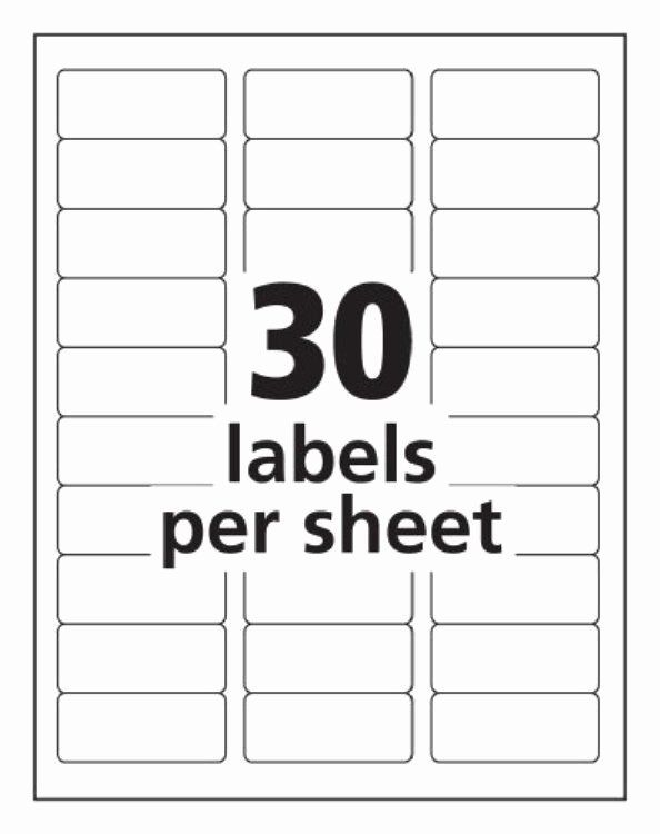 Label Templates 30 Per Sheet Invitation Template Return Address Labels Template Printable Label Templates Free Label Templates