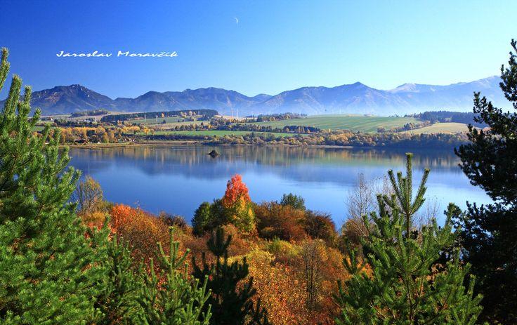 Lake Liptovska Mara in region Liptov, Slovakia