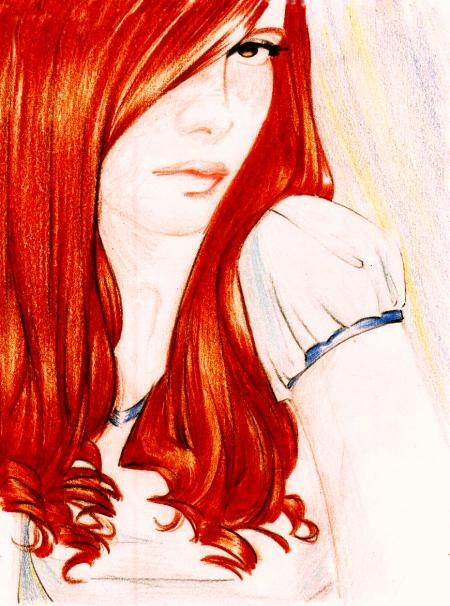 Джинни Уизли. © Alessandra Sunk (http://br.groups.yahoo.com/group/alesunk/). #Rowling #Weasley