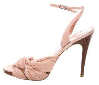 Alexandra Neel Pleated Chiffon Sandals on sale at TheRealReal