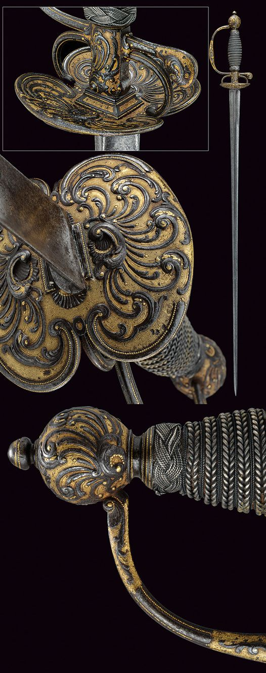 A beautiful small-sword.    provenance: France dating: 18th Century.