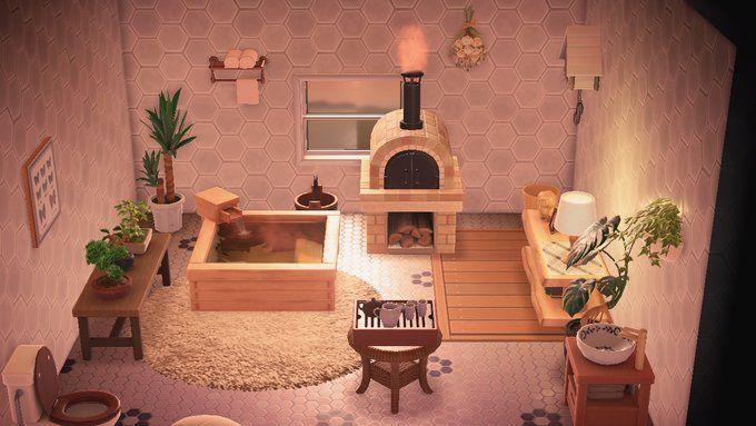 Pin by Blanca on Animal Crossing   Animal crossing, New ... on Animal Crossing New Horizons Bedroom Ideas  id=26628