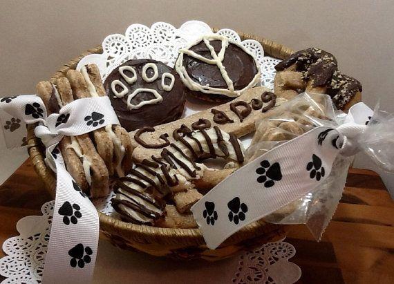 Dog Gift Basket  Gourmet Peanut Butter by DOGBonesBoutique on Etsy