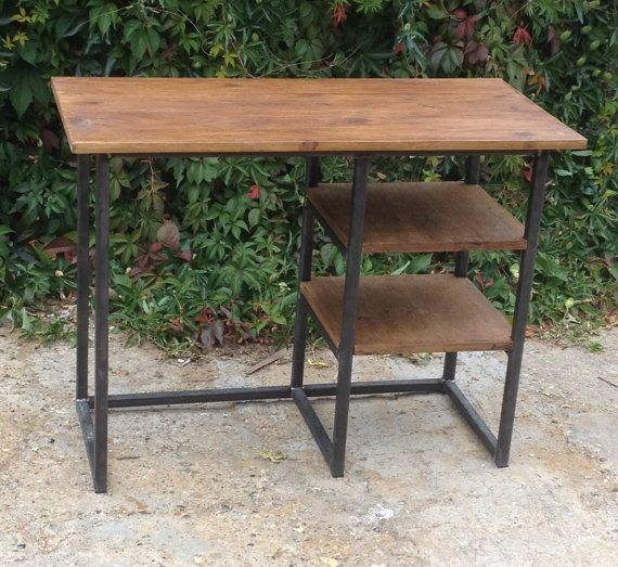 Vintage Modern Rustic Industrial Home Office Desk by breuhaus
