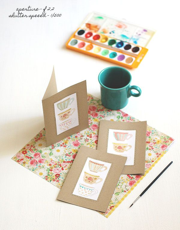 Check out the adorable results of these cards that Lisa made using my free printable. So sweet!: Cups Printable, Art Crafts, Cards Photography, Free Printable, Adorable Cards, Printable Teacup, Aperture, So Sweet, Shutters Speed