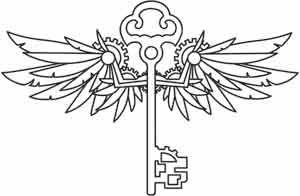 Winged Key design (UTH2045) from UrbanThreads.com