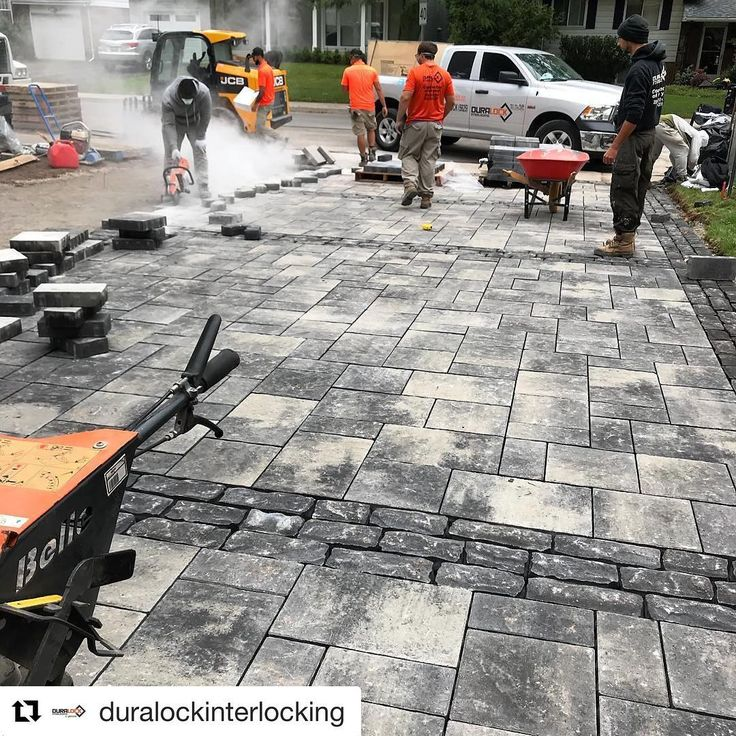 """As Aristotle said 'Pleasure in the job puts perfection in the work.'"" - @duralockinterlocking    Are you passionate about what you do? Send us a DM - we want to share you on @heart.grit.hardscape.    #heartgritandhardscape #themodernlandscaper #hardscape #hardscaping #hardscapebrotherhood #driveway #truck #trucks #construction #paver #pavers #landscaping #landscaper #mason #masonry #outdoordesign #paving #jobsite #onsite #landscapedesign #landscapearchitecture"