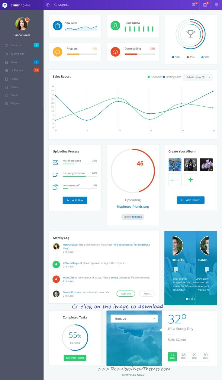 Cubic is clean and modern design 4in1 responsive #Bootstrap Angular ...