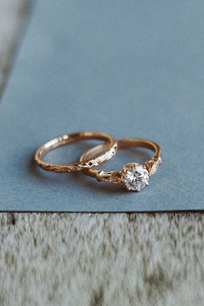 33 Rose Gold Solitaire Ring Ideas For Tender Girls