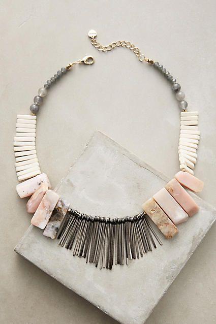 Anthropologie Stone Sunset Bib Necklace