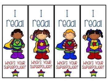 Super+Hero+Bookmarks!+FREEBIEHappy+Back+to+School+:DMaureen+Kinney