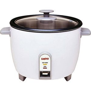 Sanyo Rice Cooker, Vegetable Steamer, 10 Cup