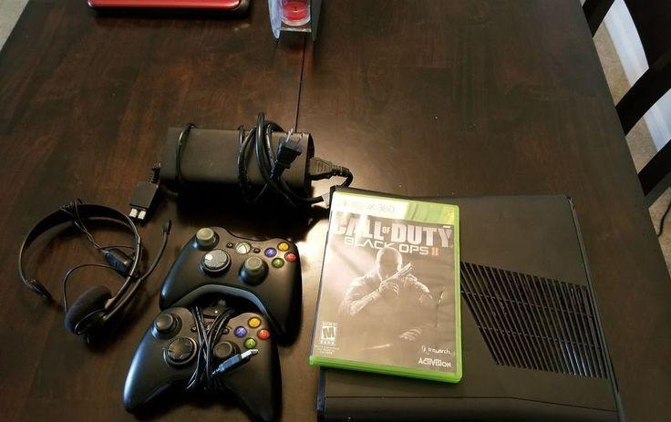 ---Microsoft Xbox 360 Slim 4GB Video game SYSTEM Console-----
