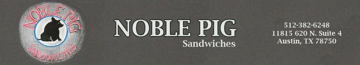 Noble Pig Sandwiches