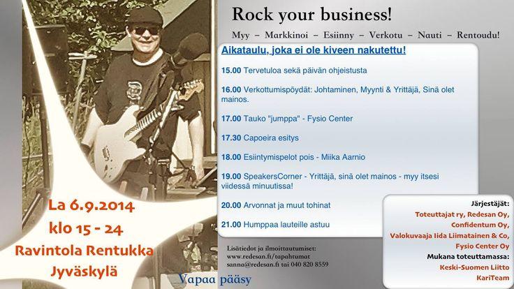 Rock your busines & Yrjö Hyöky Band lauteilla 6.9.2014 Rentukassa