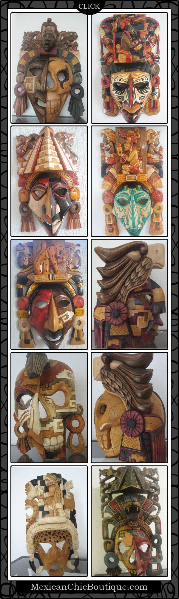 Las mascaras de Mayas, son decoraciones que Mexico aun contiene