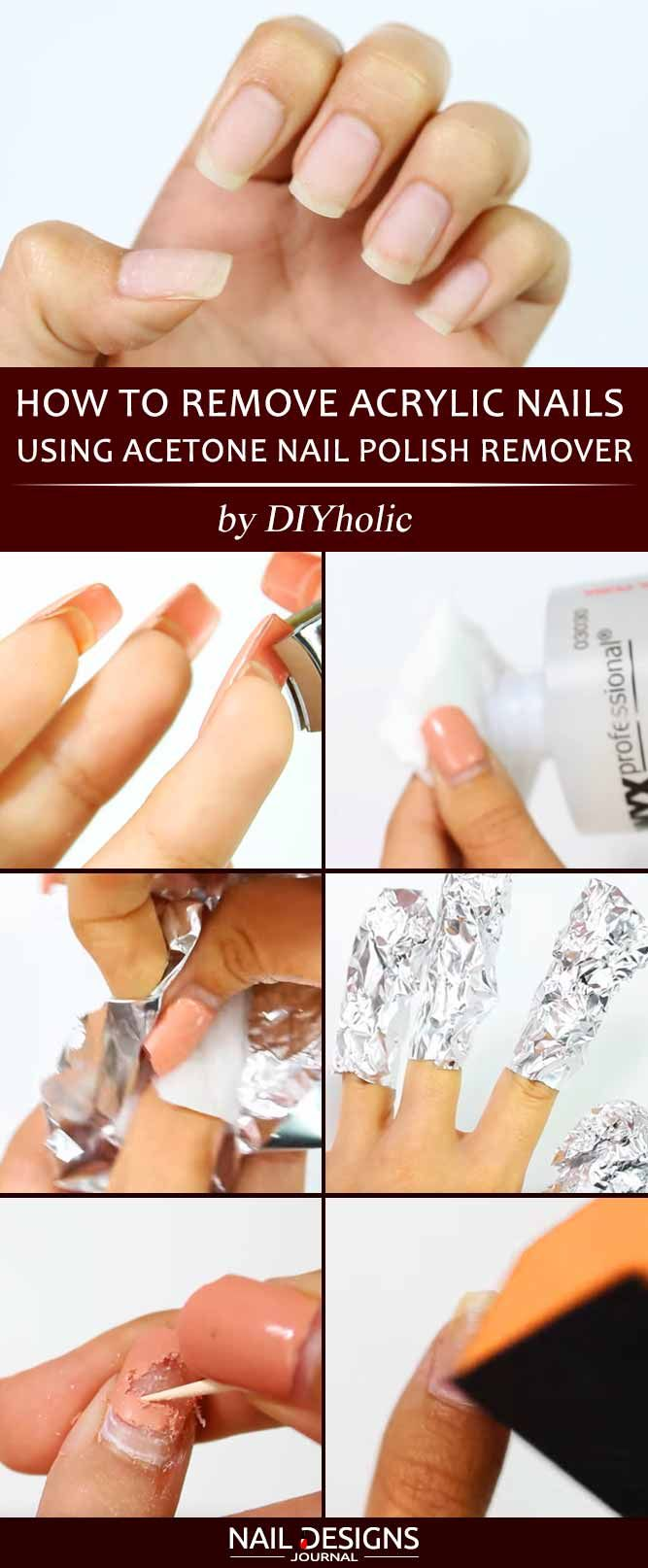 Learn How To Remove Acrylic Nails Naildesignsjournal In 2020 Remove Acrylic Nails Take Off Acrylic Nails Acrylic Nails At Home