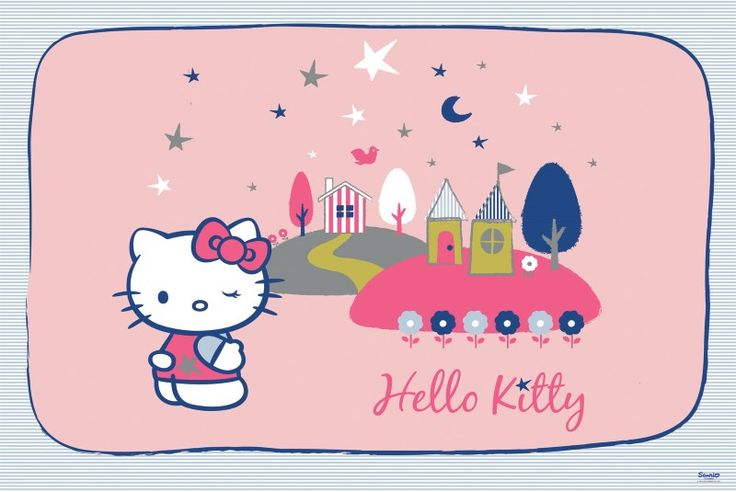fototapet Hello Kitty and her house