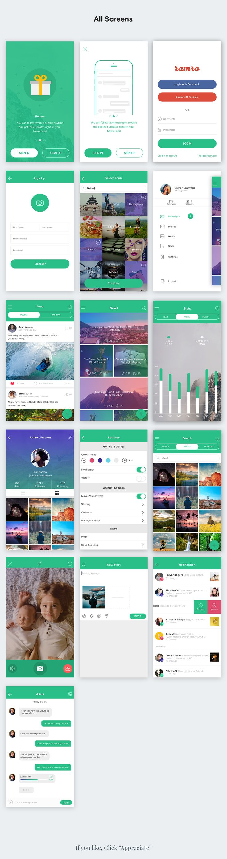 Ramro app template is iOS version of Material app – Cisco. It is fully adaptable to iphone 6 and 6s and also can be used for iphone 6/6s plus with small edit. Files are organized inside a layers in a simple manner.This app template is available for phot…