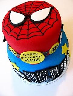 Spiderman cake... For Nicholas's birthday?