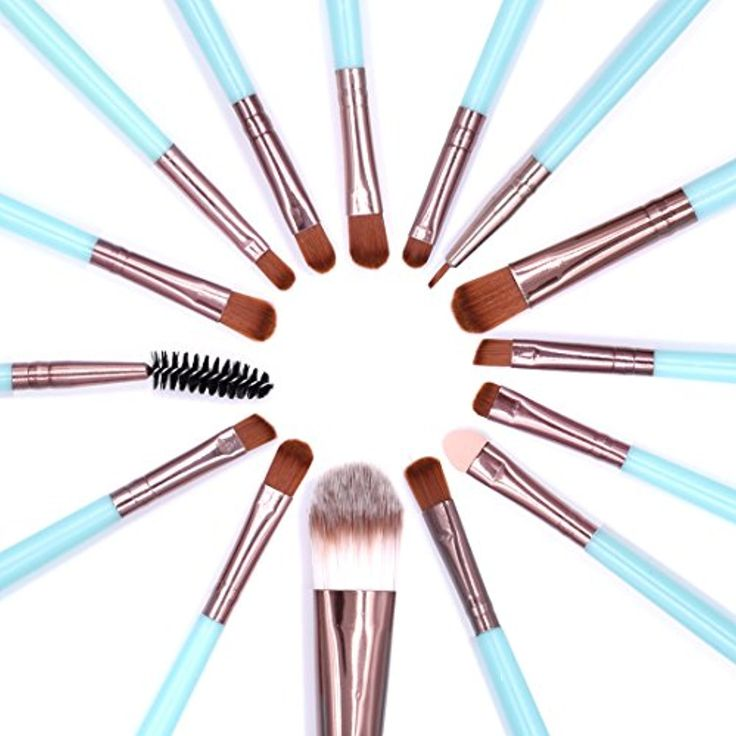 Makeup Brushes, MAANGE 15 Pieces Makeup Brushes Set Synthetic Professional Face Foundation Eye Shadow Eyeliner Concealer Lip Brushes Powder Liquid BB/CC Cream Cosmetics Blending Brush Tools (Blue) *** For more information, visit image link. (This is an affiliate link and I receive a commission for the sales)