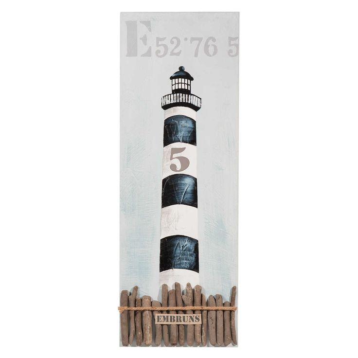 Toile phare des embruns maisons du monde seaside deco pinterest toile - Toile maison du monde ...