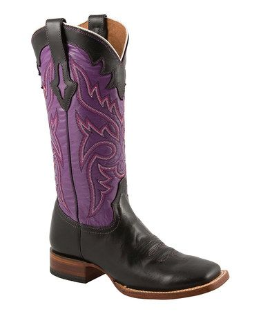 Take a look at this Black & Purple Cowboy Boot - Women by Lucchese on #zulily today!