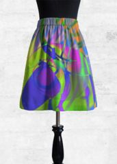 Cupro Skirt - PEACOCK LOVE III by VIDA VIDA Footaction For Sale Multi Coloured Shop Offer Cheap Price Cheapest l3i7WYO