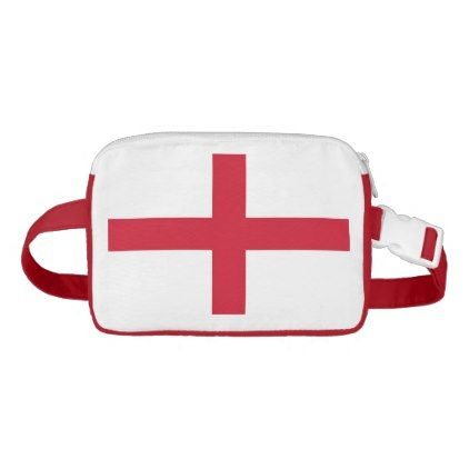Patriotic Fanny Pack with Flag of England - accessories accessory gift idea stylish unique custom