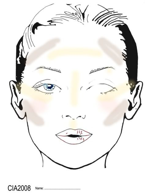 17 best Face Charts images – Blank Face Templates