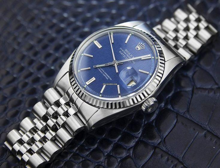 Rolex Datejust 1601 Blue Linen Dial Style Pinterest