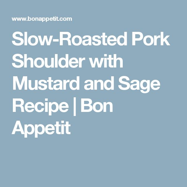 Slow Roasted Pork Shoulder on Pinterest | Pork shoulder roast, Pork ...