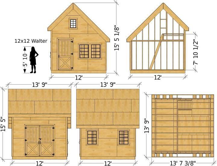 Walter Shed Plan 10x10 12x12 Grossen Giebelgartenschuppen Mit Dachboden Pauls Schuppen Garden Shed Design Garden In 2020 Building A Shed Shed Plan Shed Plans