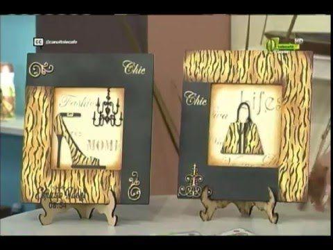 Espazio Ideal Pintura en Madera 28 de abril 2016 Telecafé - YouTube